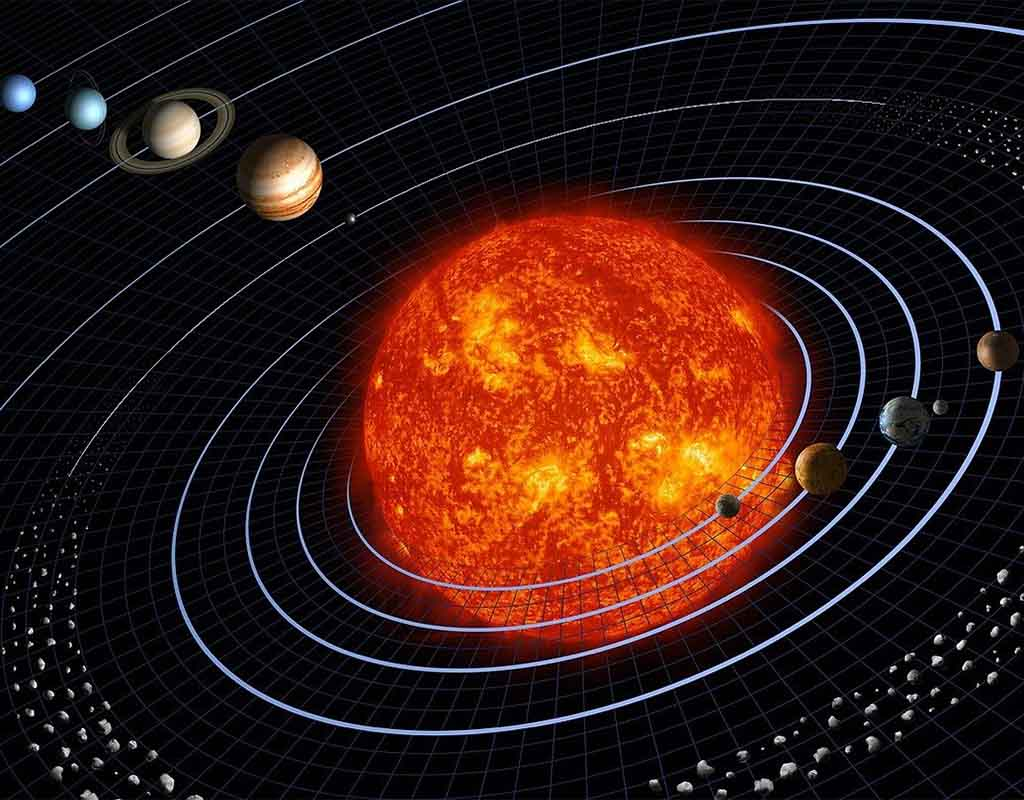 An image of our solar system